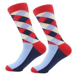 Ponožky - kárované červeno modré