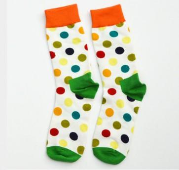 Ponožky - zelené bodkované