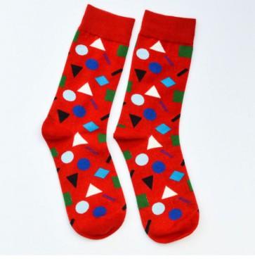 Ponožky - červené symboly