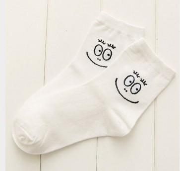 Ponožky - biele smajlíkové