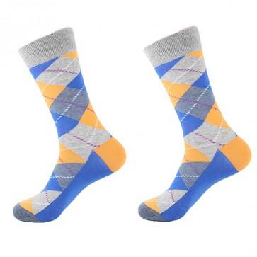 Ponožky - kárované šedé