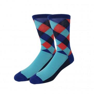 Ponožky - kárované fialovo modré