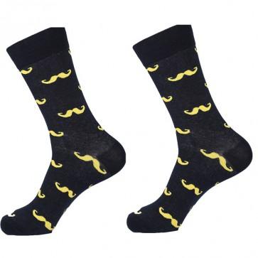 Ponožky - žlté fúzy
