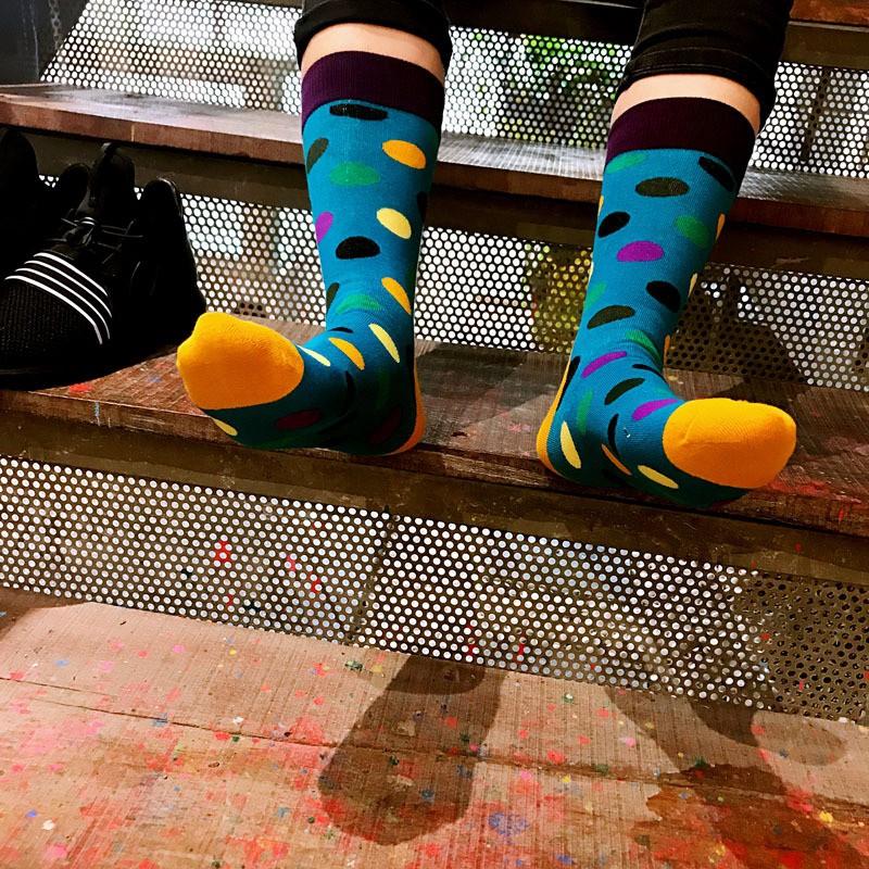 Ponožky - bodkované štýlovky