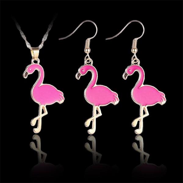 Set - ružové plameniaky