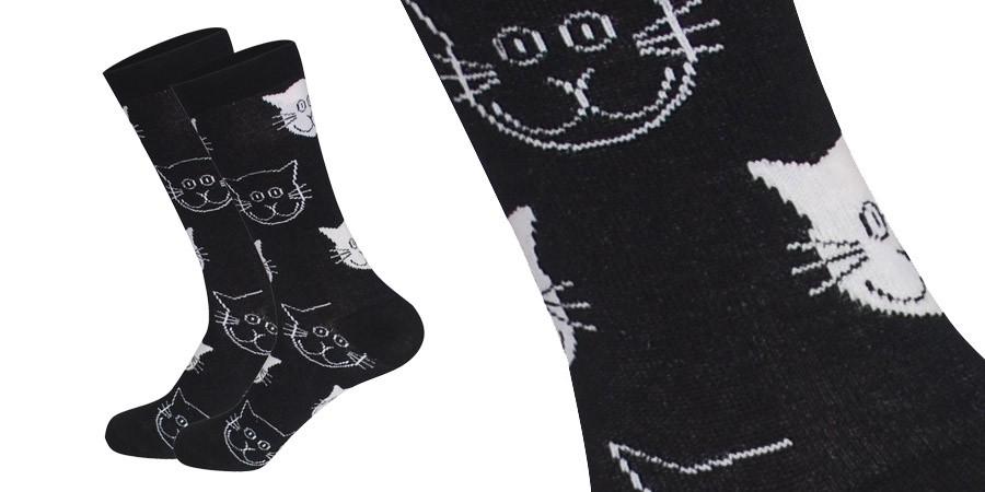Ponožky - čierne mačičky
