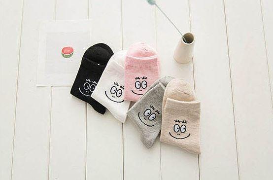 Ponožky - šedé smajlíkové