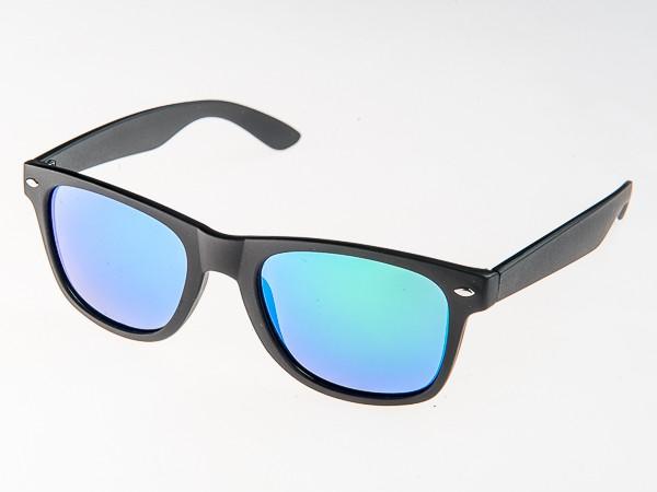 Slnečné okuliare WAYFARER - modro zelené zrkadlovky