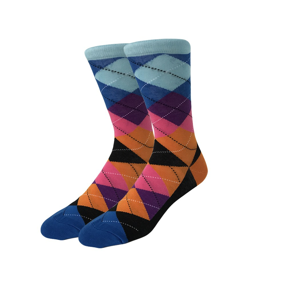 Ponožky - kárované oranžovo modré