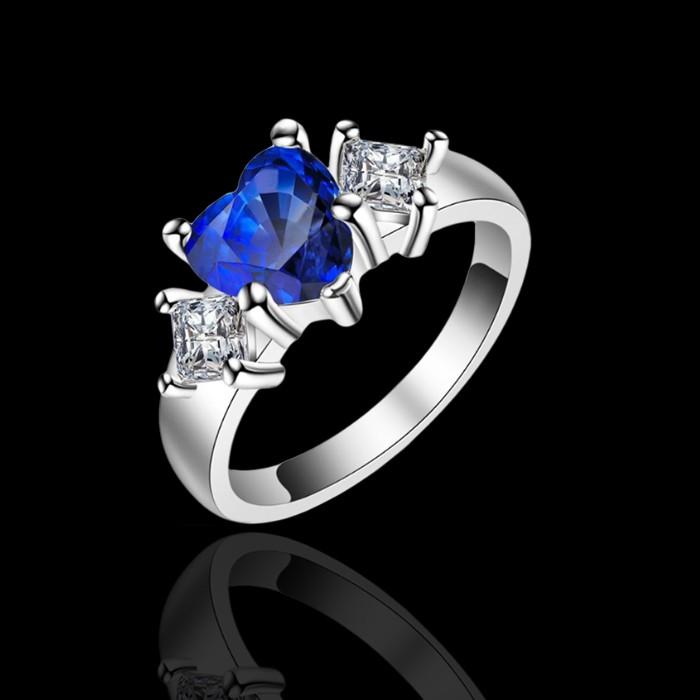 Prsteň - kráľovsky modré srdiečko