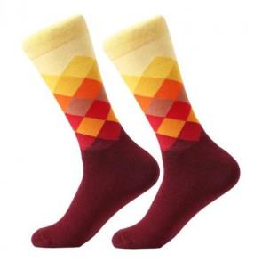 Ponožky - kárované bordové