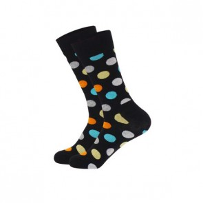 Ponožky - čierne bodkované