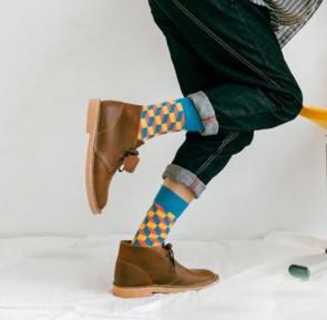 Ponožky - 3D tyrkysové
