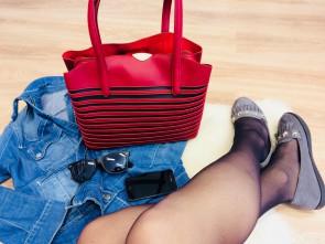 Dámska kabelka TOM&EVA Tara - červená