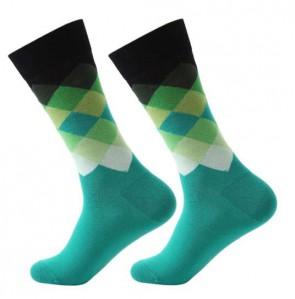 Ponožky - kárované zelené
