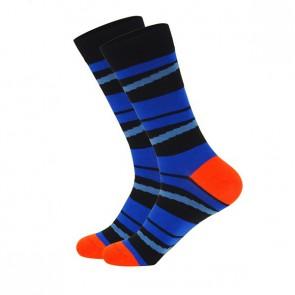 Ponožky - pásikavé modré