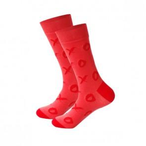 Ponožky - červené piškôrky