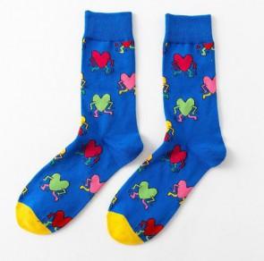 Ponožky - farebné srdiečka