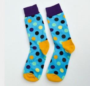 Ponožky - fialové bodkované