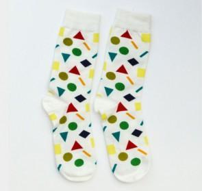 Ponožky - biele symboly