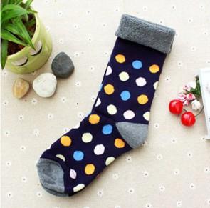 Ponožky - farebné bodkované