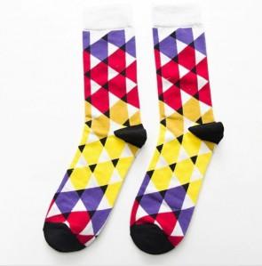 Ponožky - kárované farebné