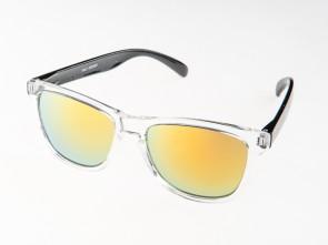 Slnečné okuliare WAYFARER - oranžovo zelené (priesvitné) zrkadlovky