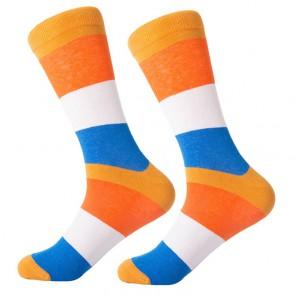 Ponožky - oranžovo modré
