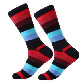 Ponožky - pásikavé bordové