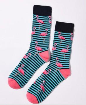 Ponožky - pásikavé plameniaky