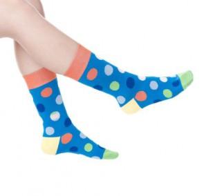 Ponožky - modré bodkované
