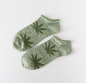 Ponožky - zelené bylinky