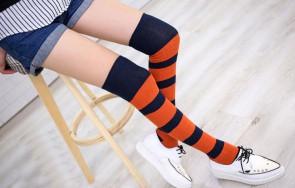Nadkolienky - oranžovo modré