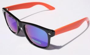 Slnečné okuliare WAYFARER - oranžovo čierne zrkadlovky